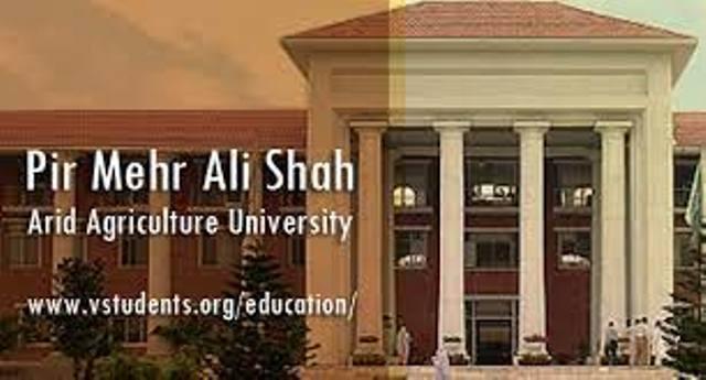 پیر مہر علی شاہ ایرڈ ایگریکلچر یونیورسٹی کی ویٹرنری فیکلٹی اور دیگر شعبہ جات میں آسامیاں